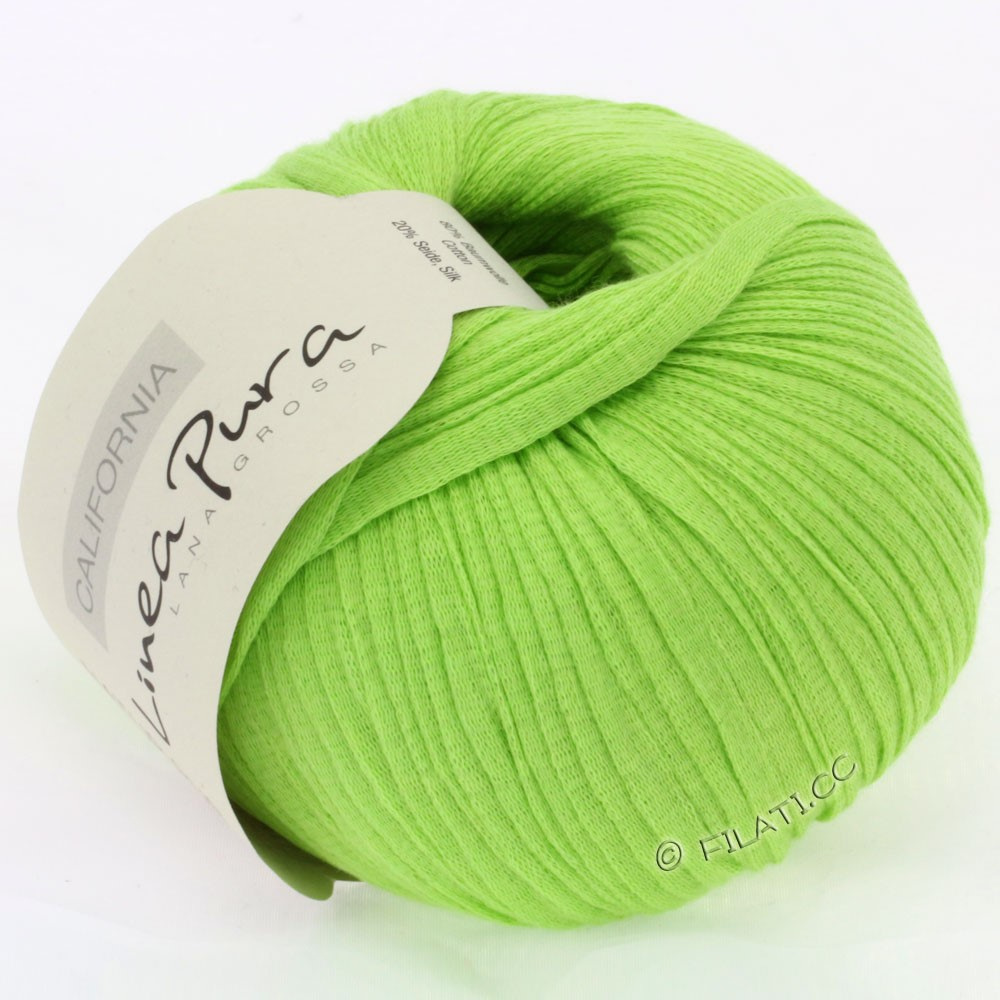 Lana Grossa CALIFORNIA Uni/Print (Linea Pura) | 002-светло-зелёный