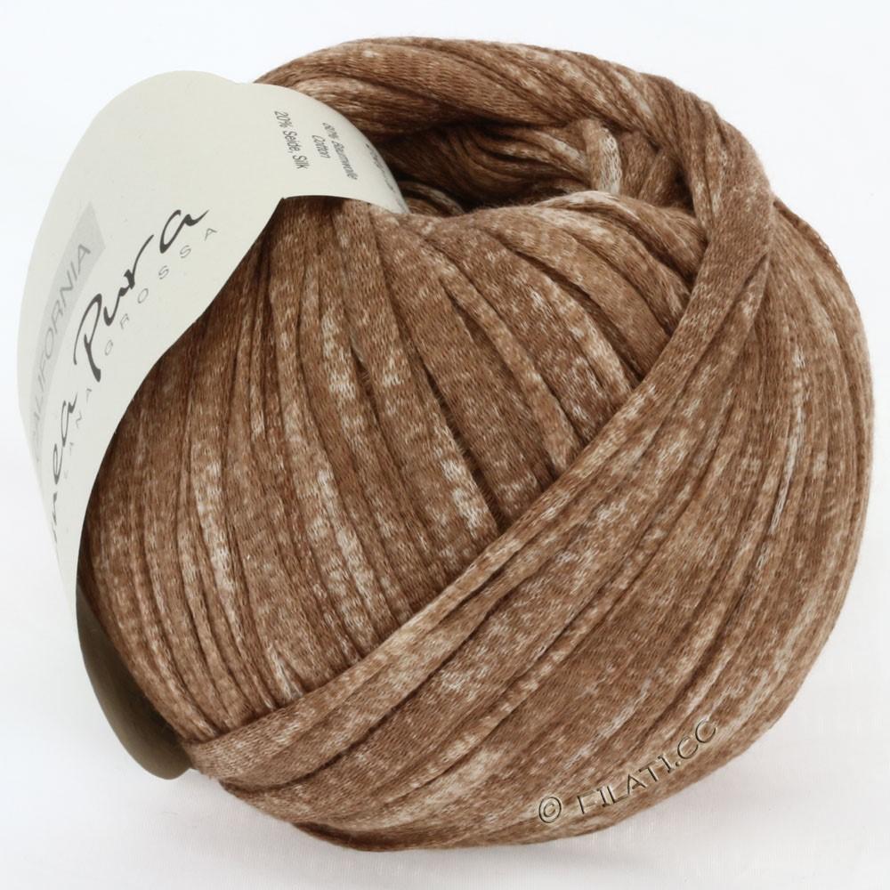 Lana Grossa CALIFORNIA Uni/Print (Linea Pura) | 203-коричневый смешанный