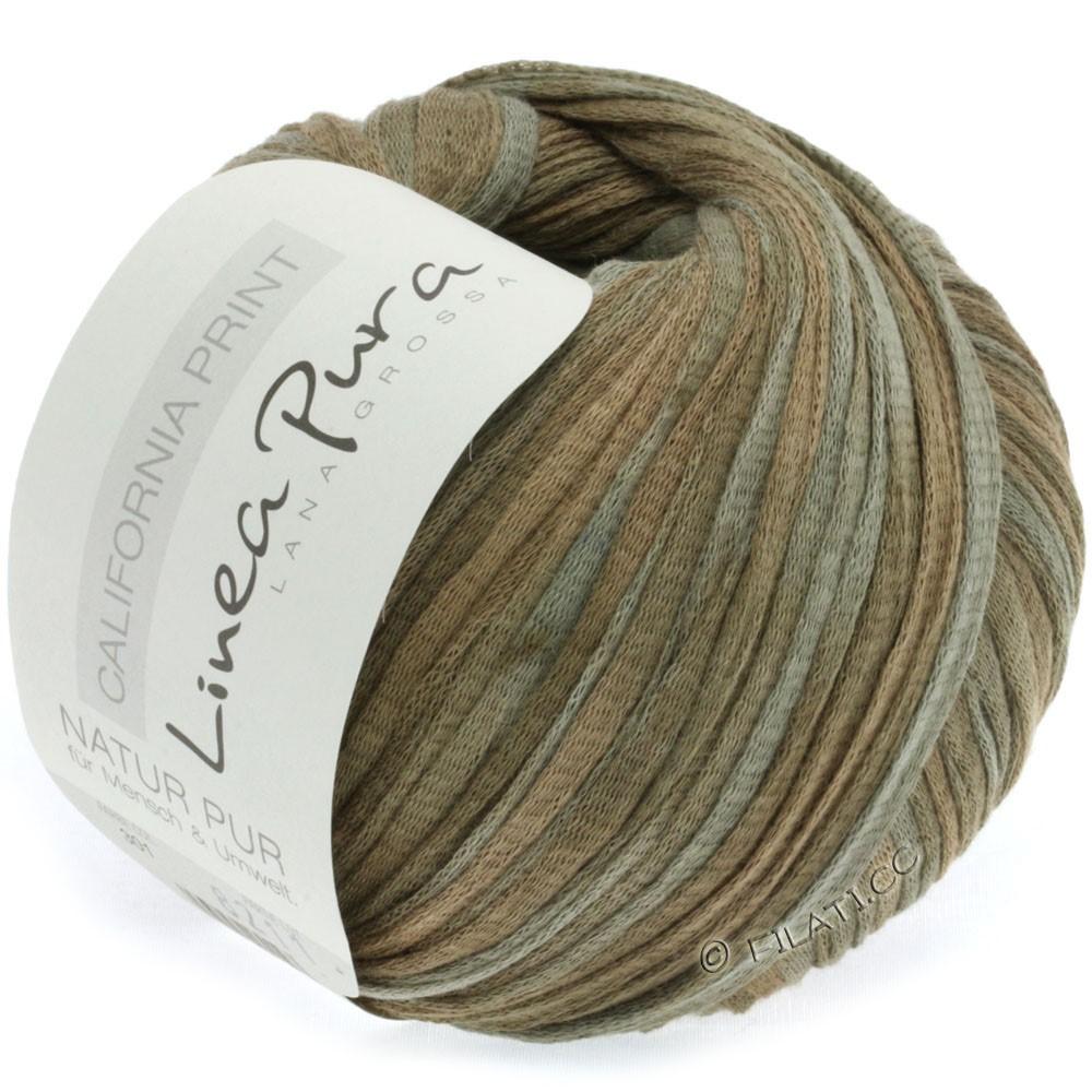 Lana Grossa CALIFORNIA Uni/Print (Linea Pura) | 301-хаки/серо-коричневый