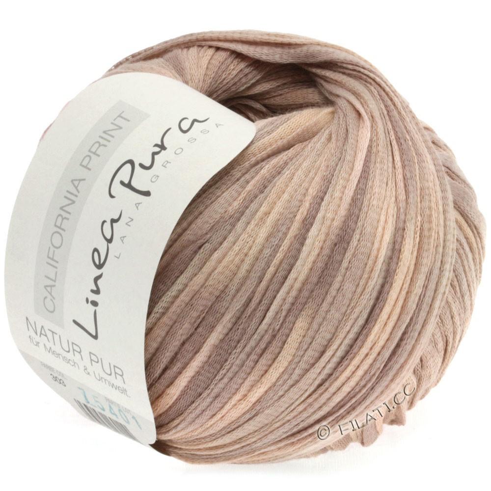 Lana Grossa CALIFORNIA Uni/Print (Linea Pura) | 303-ветхо-розовый/розовое дерево