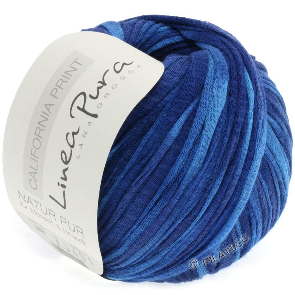 Lana Grossa CALIFORNIA Uni/Print (Linea Pura) | 305-синий/василек