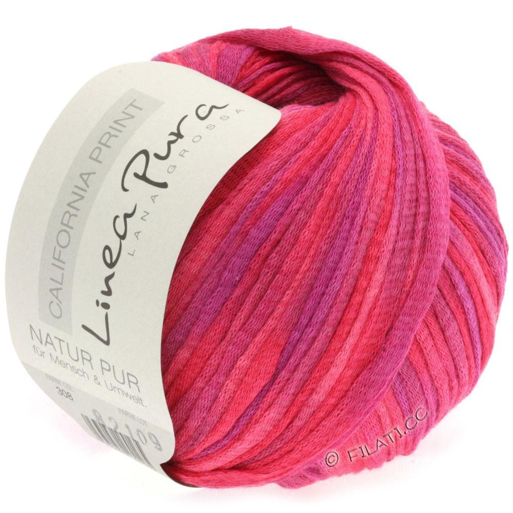 Lana Grossa CALIFORNIA Uni/Print (Linea Pura) | 308-пинк/гвоздика/пурпурный