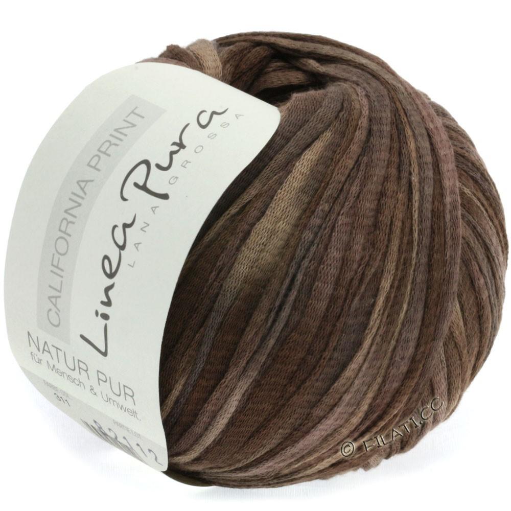 Lana Grossa CALIFORNIA Uni/Print (Linea Pura) | 311-серо-коричневый/кофе мокко