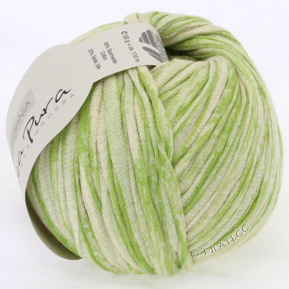 Lana Grossa CALIFORNIA Uni/Print (Linea Pura) | 401-светло-зелёный/натуральный