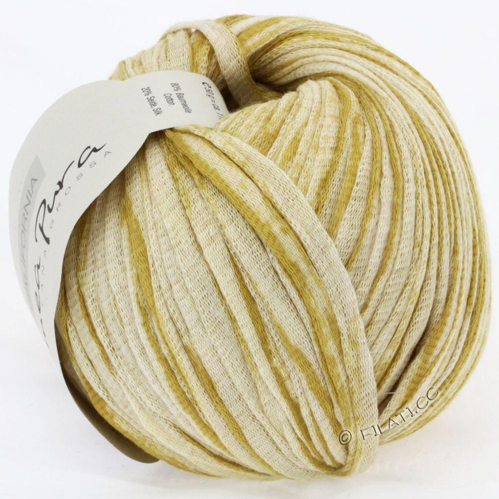 Lana Grossa CALIFORNIA Uni/Print (Linea Pura) | 405-горчично-желтый/натуральный