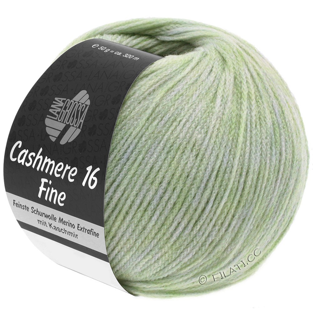 Lana Grossa CASHMERE 16 FINE Uni/Degradé | 002-бледно-зеленый
