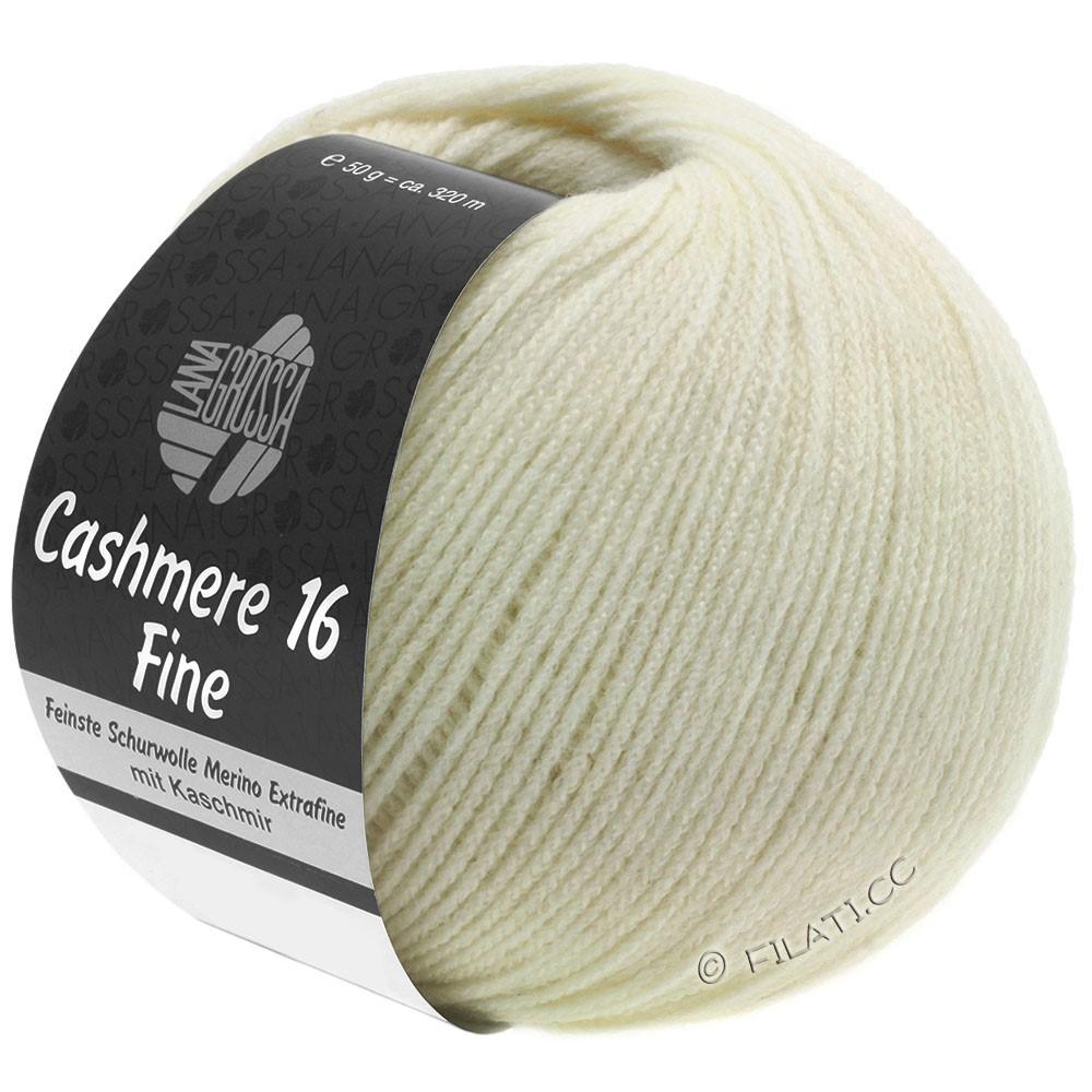 Lana Grossa CASHMERE 16 FINE Uni/Degradé | 009-чисто-белый