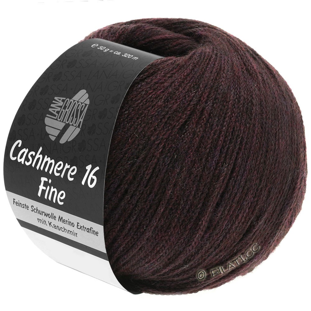 Lana Grossa CASHMERE 16 FINE Uni/Degradé | 010-красно-коричневый