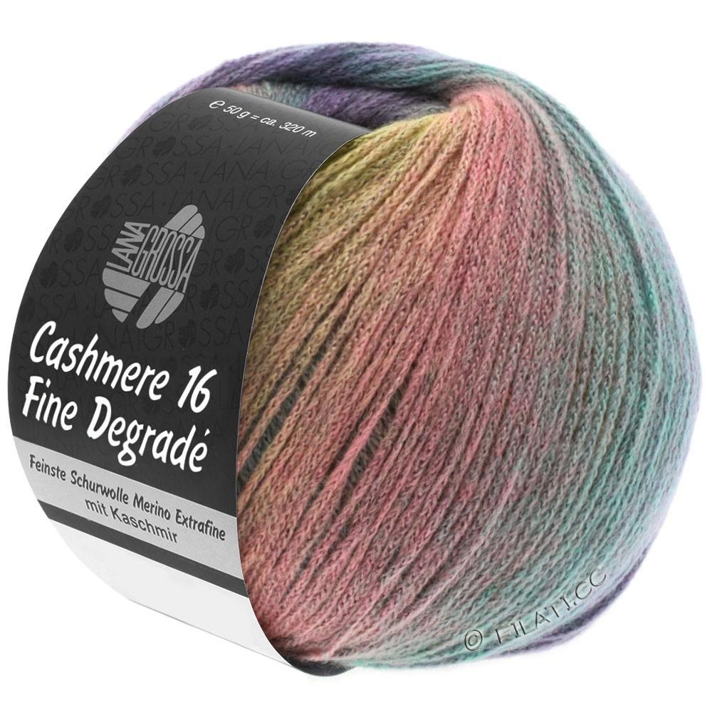 Lana Grossa CASHMERE 16 FINE Uni/Degradé | 101-мягкий желтый/светло-серый/розовый/мята