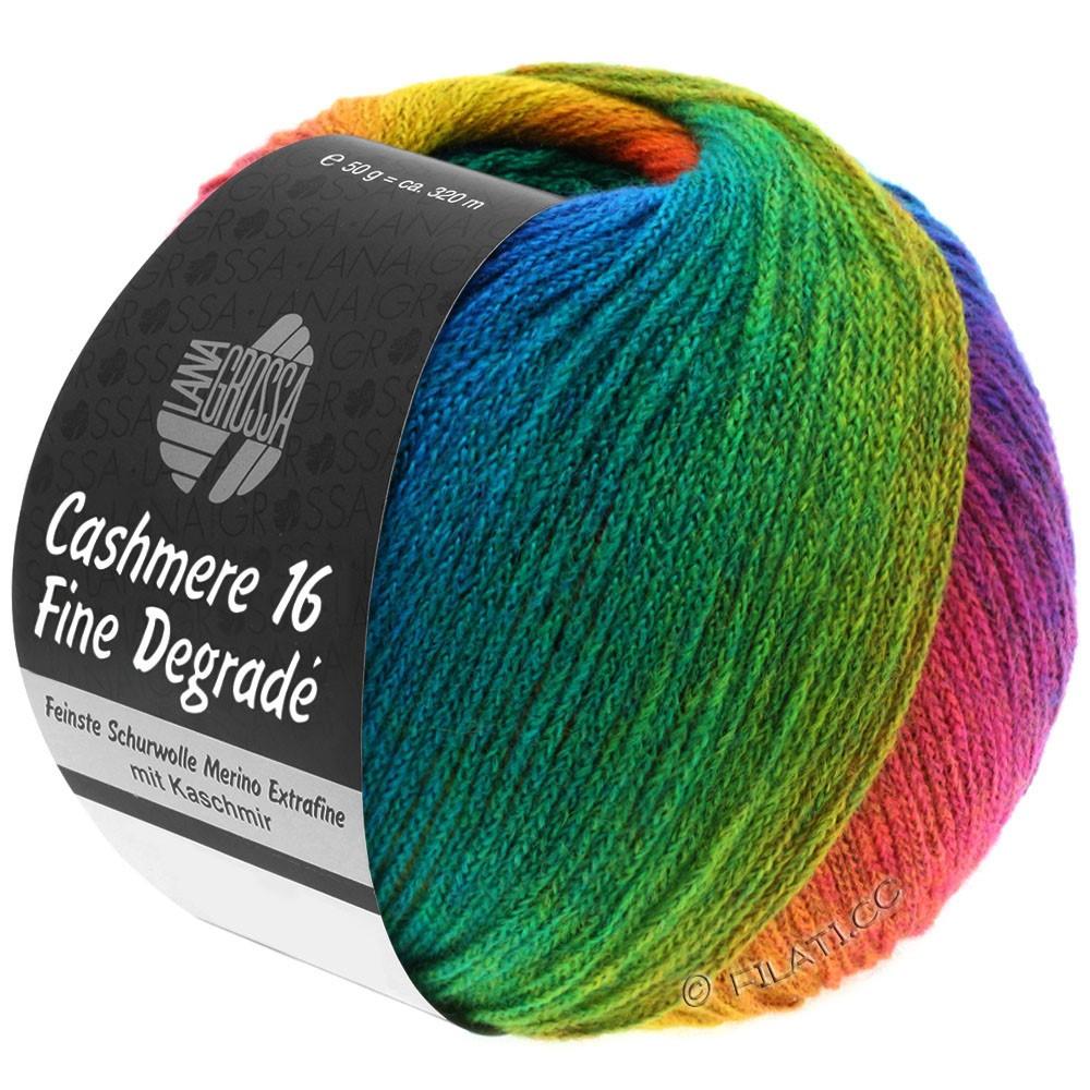 Lana Grossa CASHMERE 16 FINE Uni/Degradé | 104-горчично-желтый/ржавчина/горечавки синий/бирюзовый синий/изумрудный/красный фиалка
