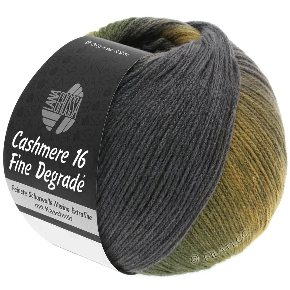 Lana Grossa CASHMERE 16 FINE Uni/Degradé   108-янтарный/хаки/тёмно-зелёный/тёмно-серый/серо-фиолетовый