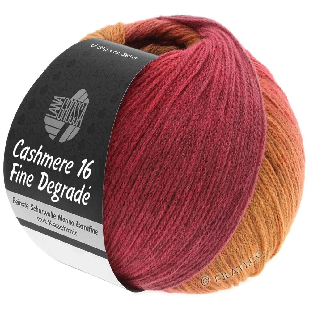 Lana Grossa CASHMERE 16 FINE Uni/Degradé | 109-оранжевый/пинк/малиновый/ветхо-розовый