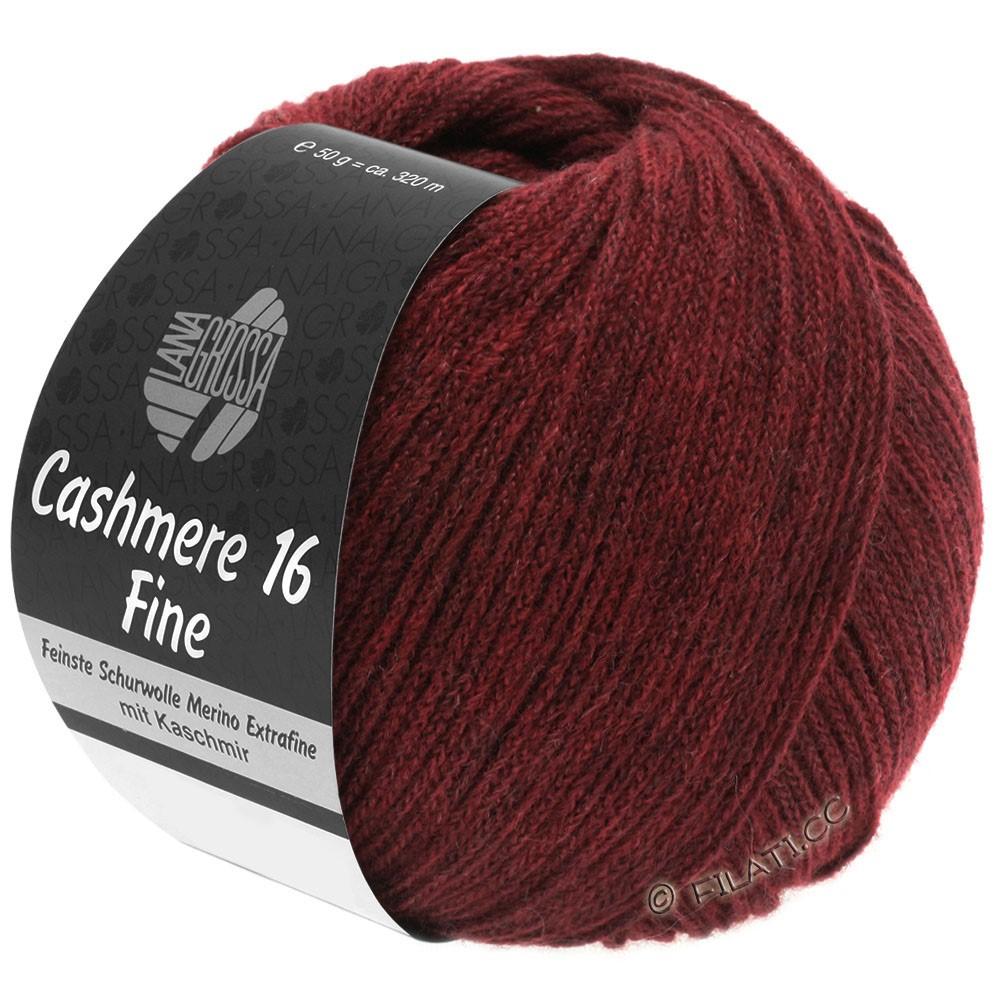 Lana Grossa CASHMERE 16 FINE Uni/Degradé | 011-тёмно-красный