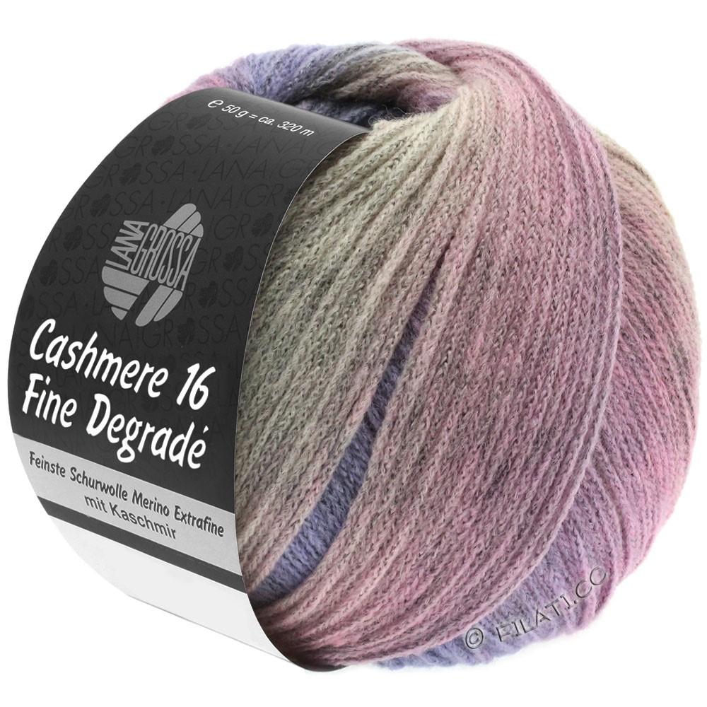 Lana Grossa CASHMERE 16 FINE Uni/Degradé   110-серо-розовый/пурпурный/розовый
