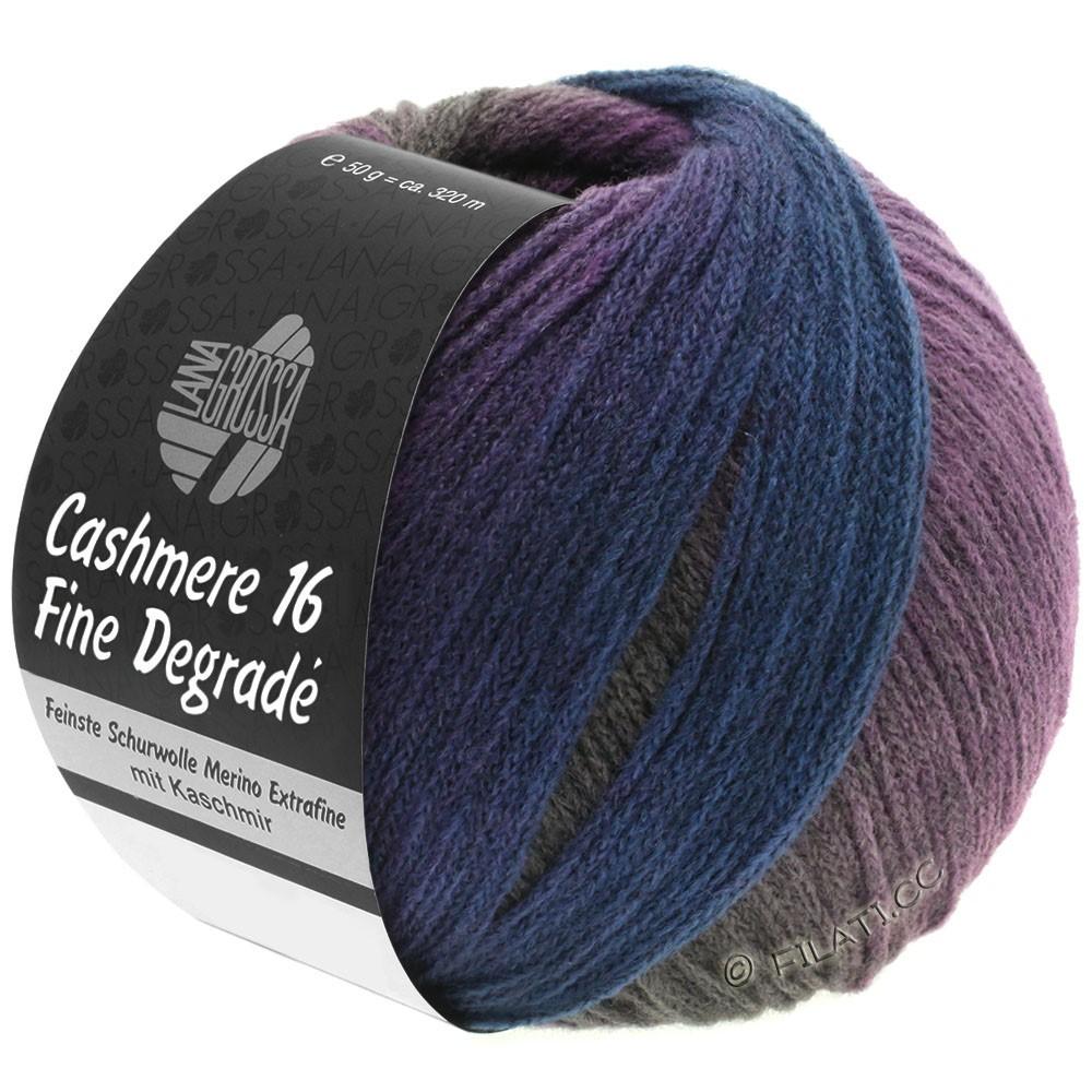 Lana Grossa CASHMERE 16 FINE Uni/Degradé | 112-серый/петроль/баклажановый