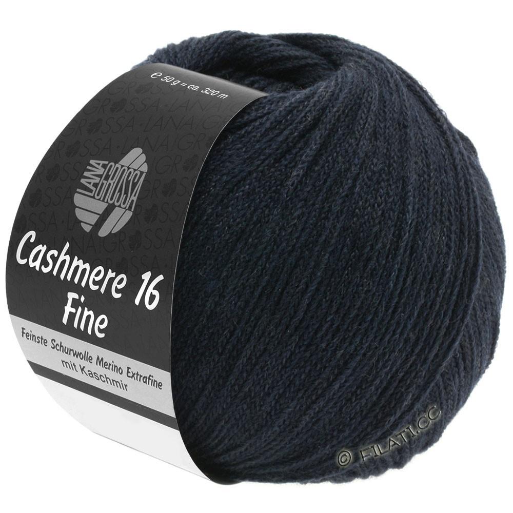 Lana Grossa CASHMERE 16 FINE Uni/Degradé | 012-синий, как ночь