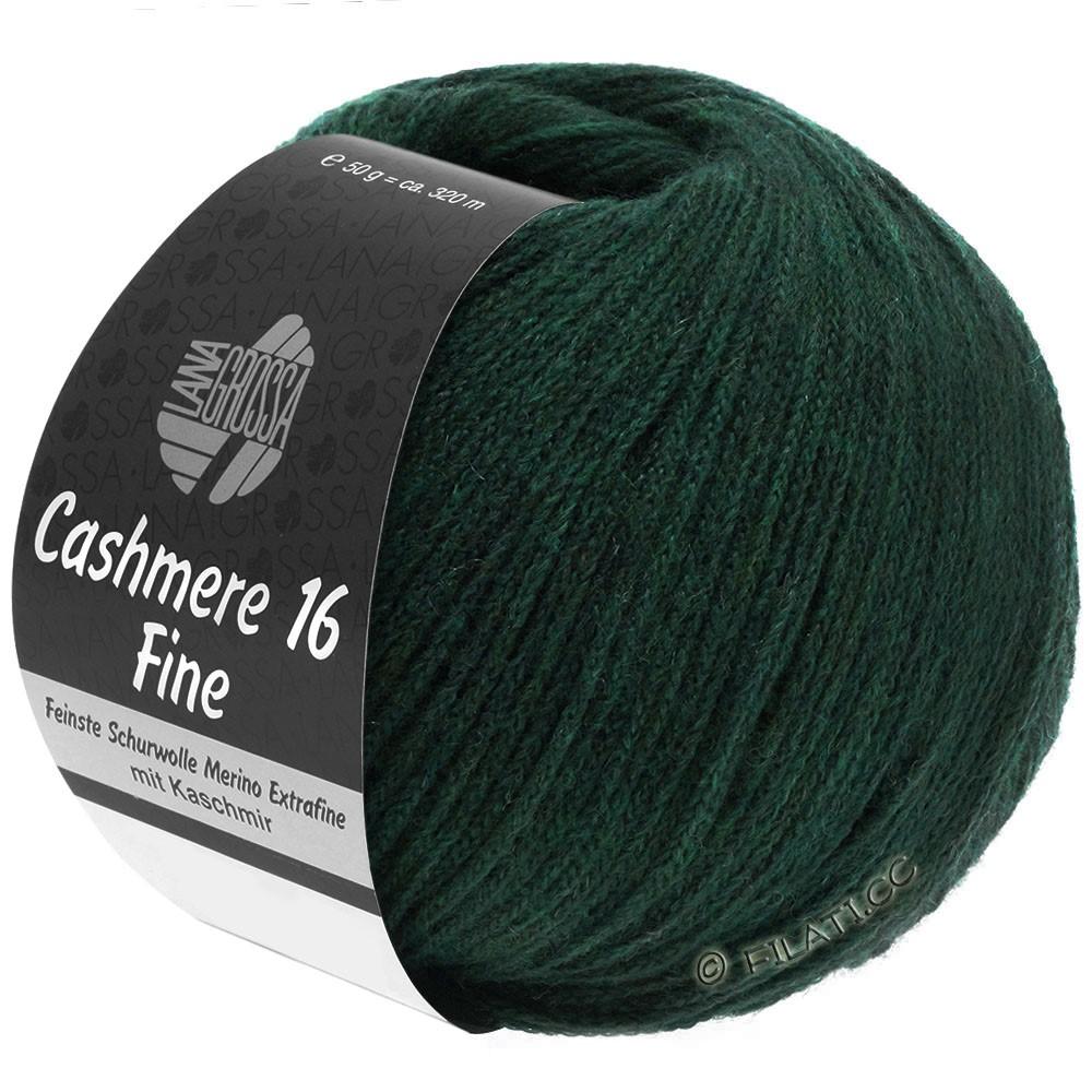Lana Grossa CASHMERE 16 FINE Uni/Degradé | 014-чёрно-зелёный