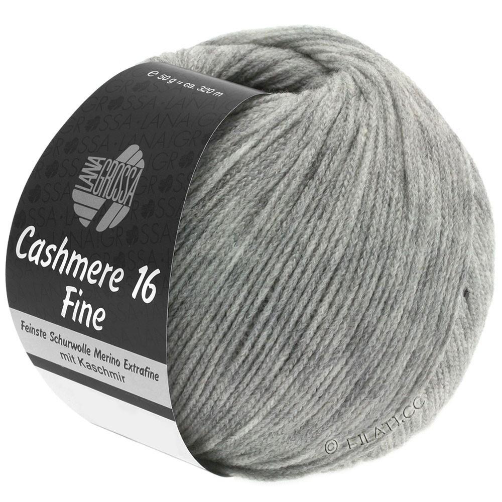 Lana Grossa CASHMERE 16 FINE Uni/Degradé | 015-светло-серый