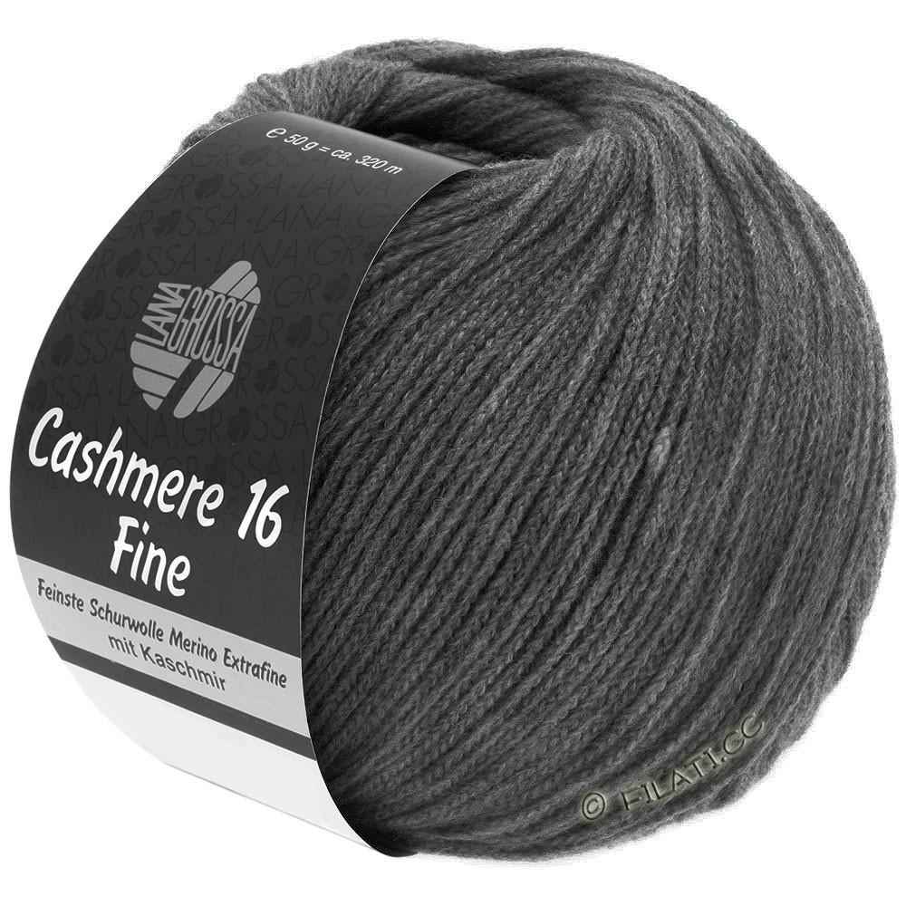 Lana Grossa CASHMERE 16 FINE Uni/Degradé | 016-темно-серый
