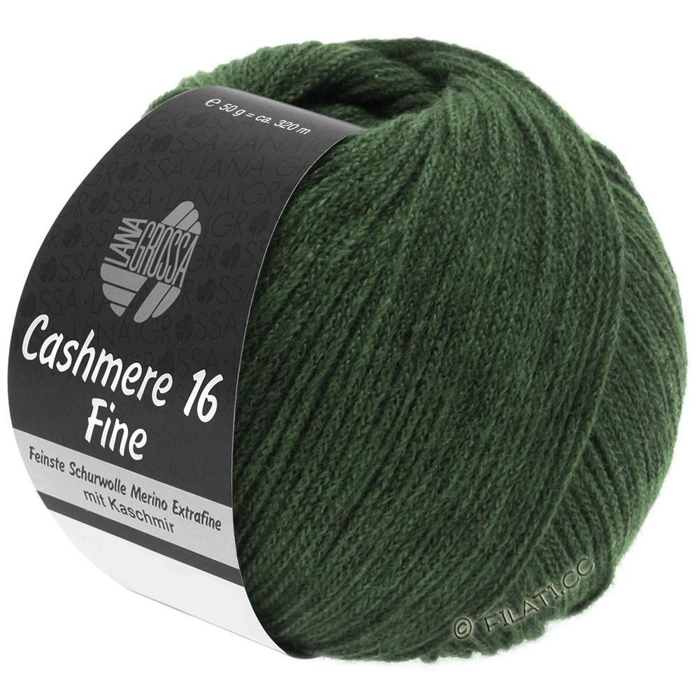 Lana Grossa CASHMERE 16 FINE Uni/Degradé | 020-темно-зеленый