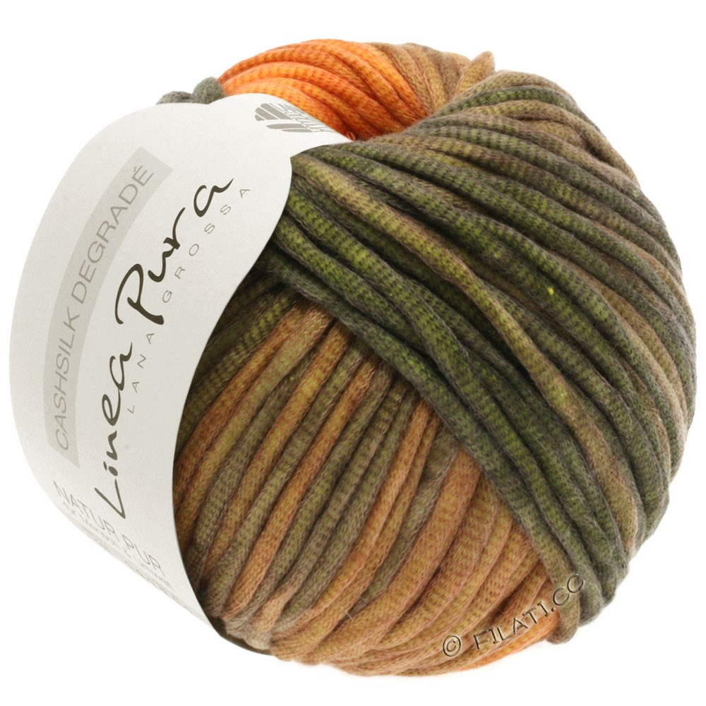 Lana Grossa CASHSILK Degradé (Linea Pura) | 103-оранжевый/цвет корицы/хаки