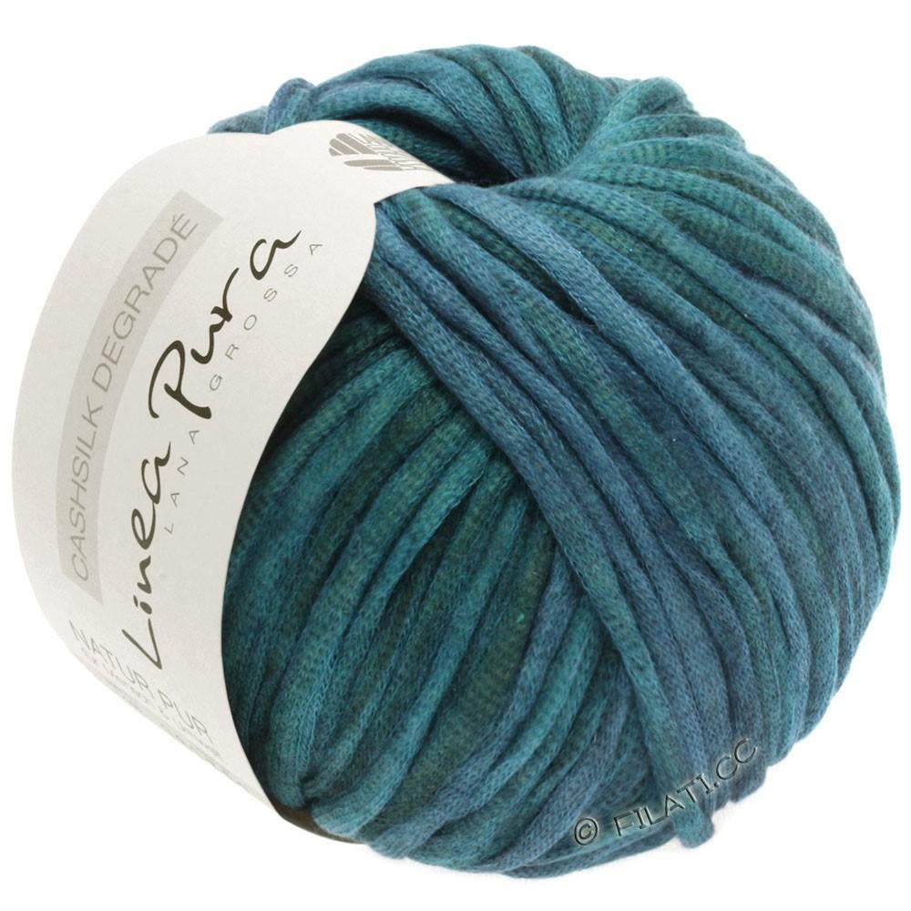 Lana Grossa CASHSILK Degradé (Linea Pura) | 105-петроль зелёный/тёмно сине-зеленый/антрацитовый