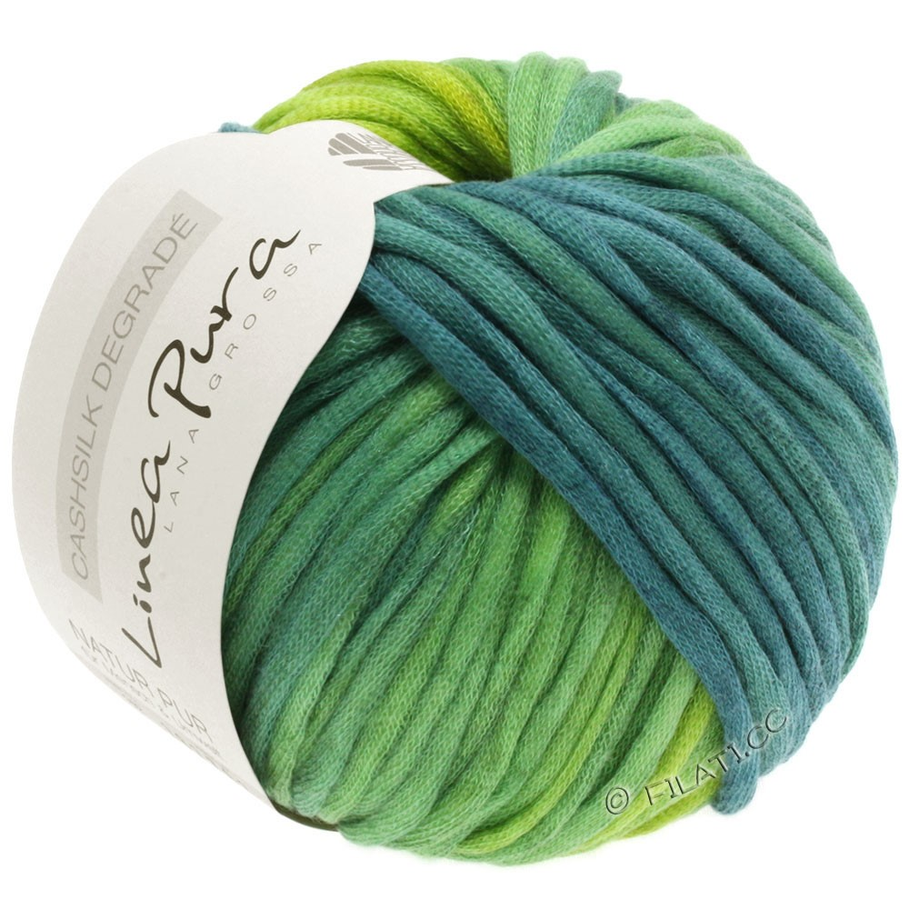 Lana Grossa CASHSILK Degradé (Linea Pura) | 106-жёлто-зеленый/мятно-бирюзовый/петроль