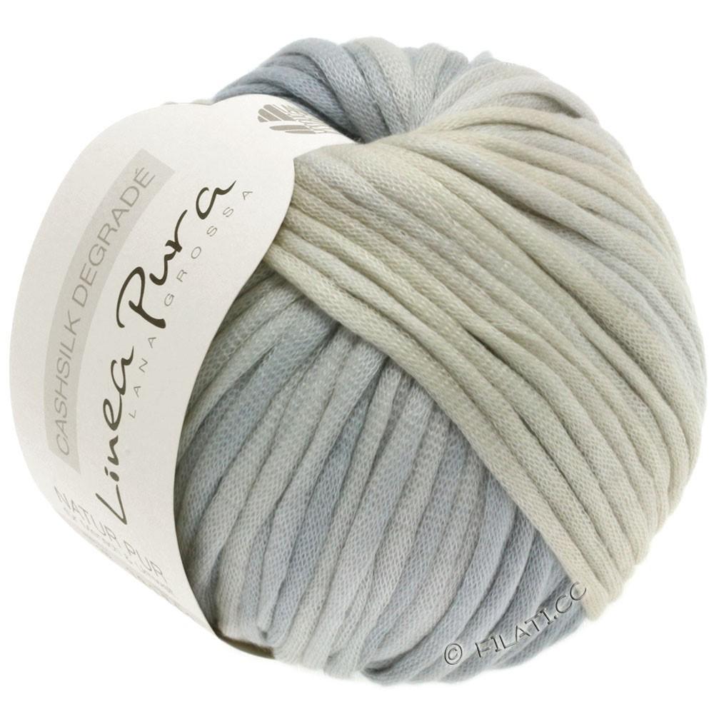 Lana Grossa CASHSILK Degradé (Linea Pura) | 107-натуральный/серо- бежевый/серебристо-серый/светло-серый