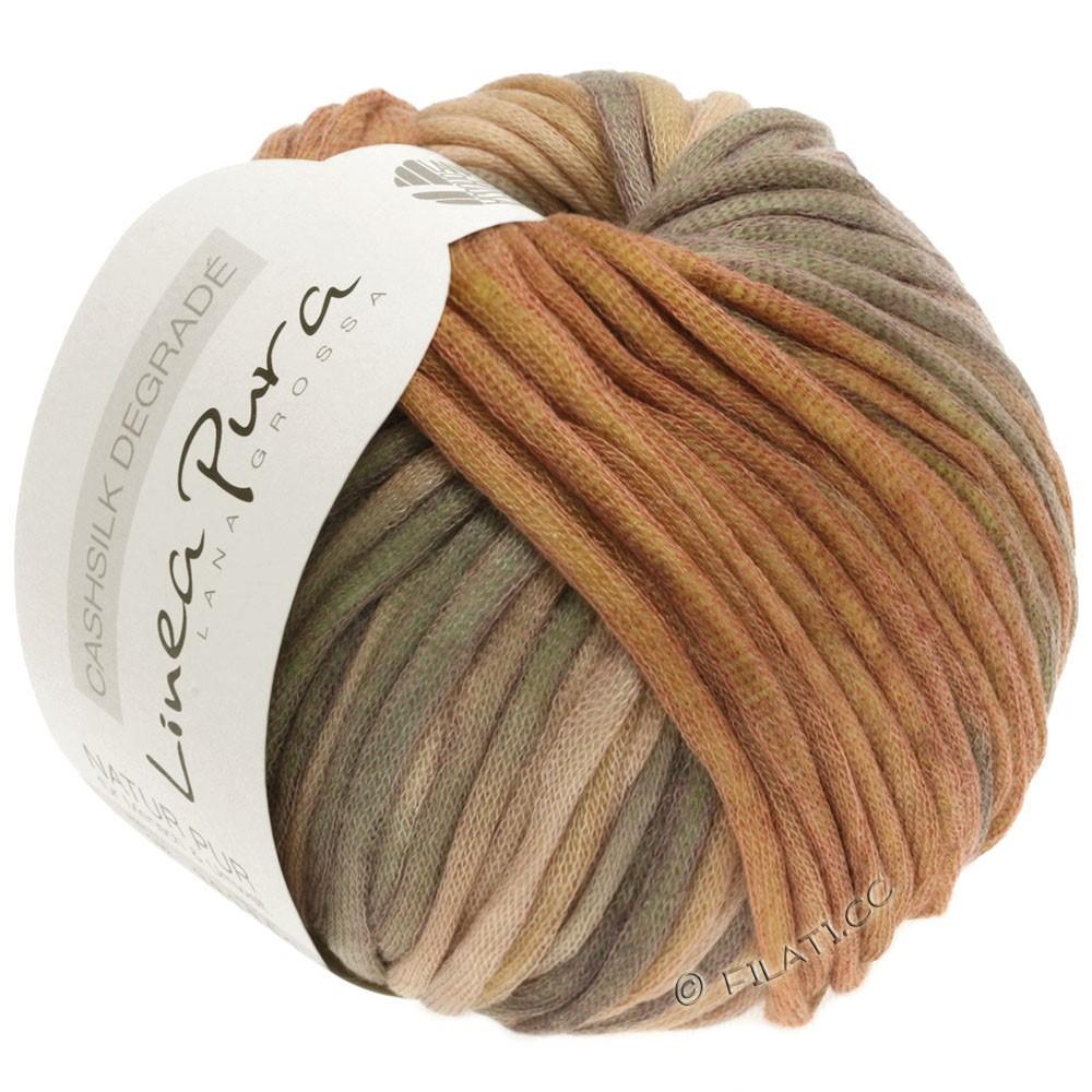 Lana Grossa CASHSILK Degradé (Linea Pura) | 108-песок/легко коричневый/цвет корицы/хаки