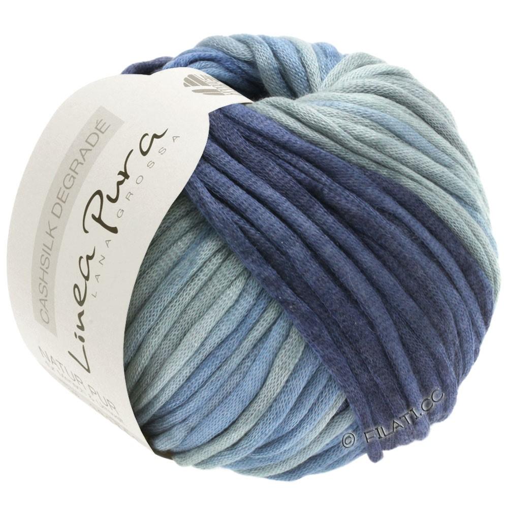 Lana Grossa CASHSILK Degradé (Linea Pura) | 111-серо-голубой/джинс/синяя сталь/тёмно-синий