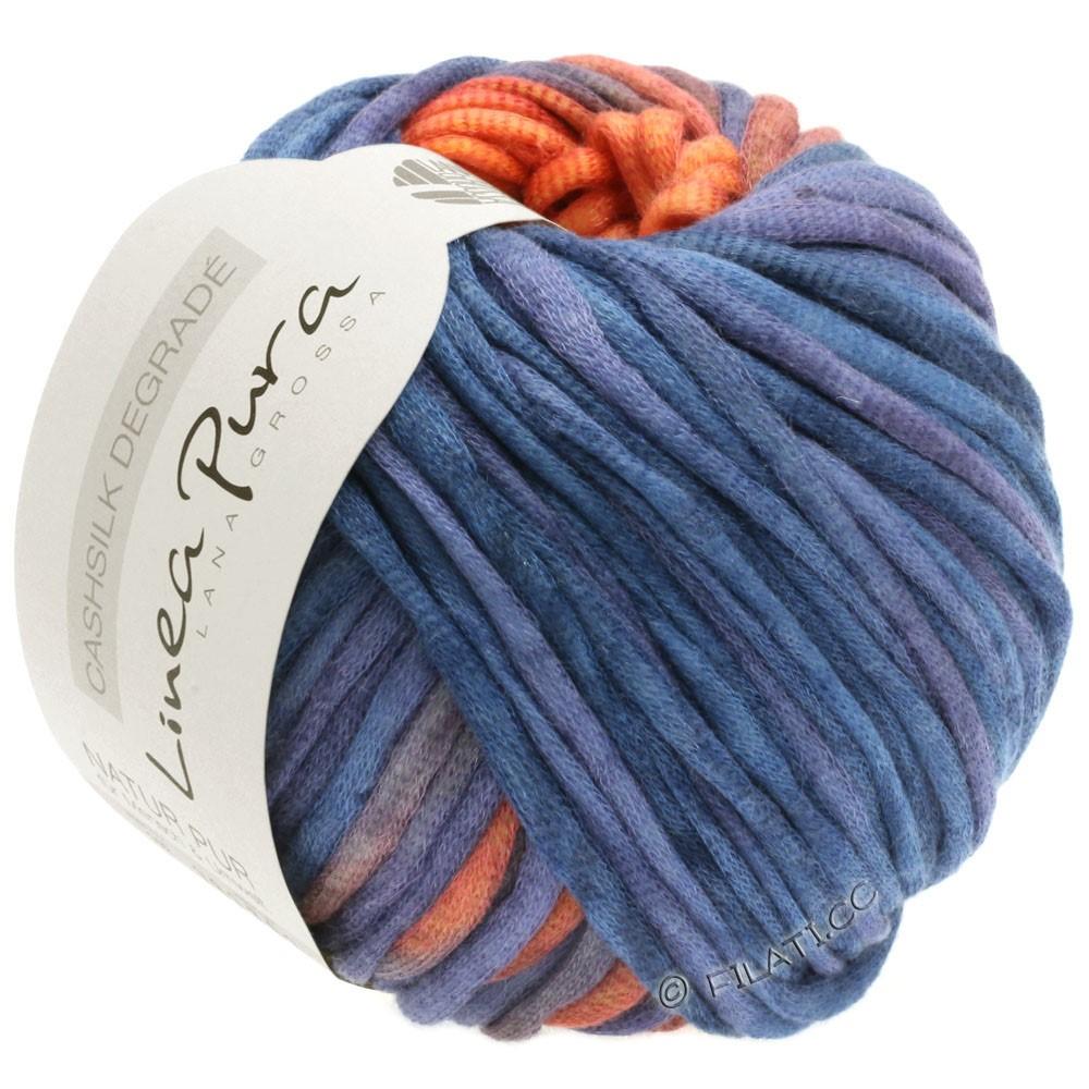 Lana Grossa CASHSILK Degradé (Linea Pura) | 112-оранжевый/лилово-голубой/синияя слива/бордо