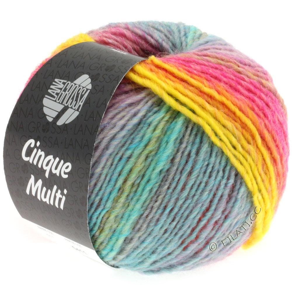 Lana Grossa CINQUE MULTI | 11-пинк/жёлтый/пурпурный/синий/зелёный/оранжевый/бирюзовый смешанный