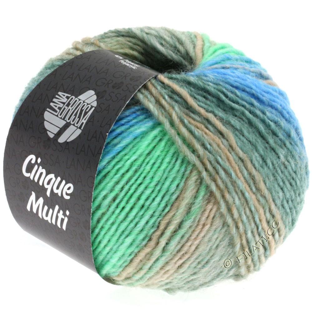 Lana Grossa CINQUE MULTI | 12-светло-серый/серо-зеленый/серо- бежевый/бирюзовый/горечавка смешанный