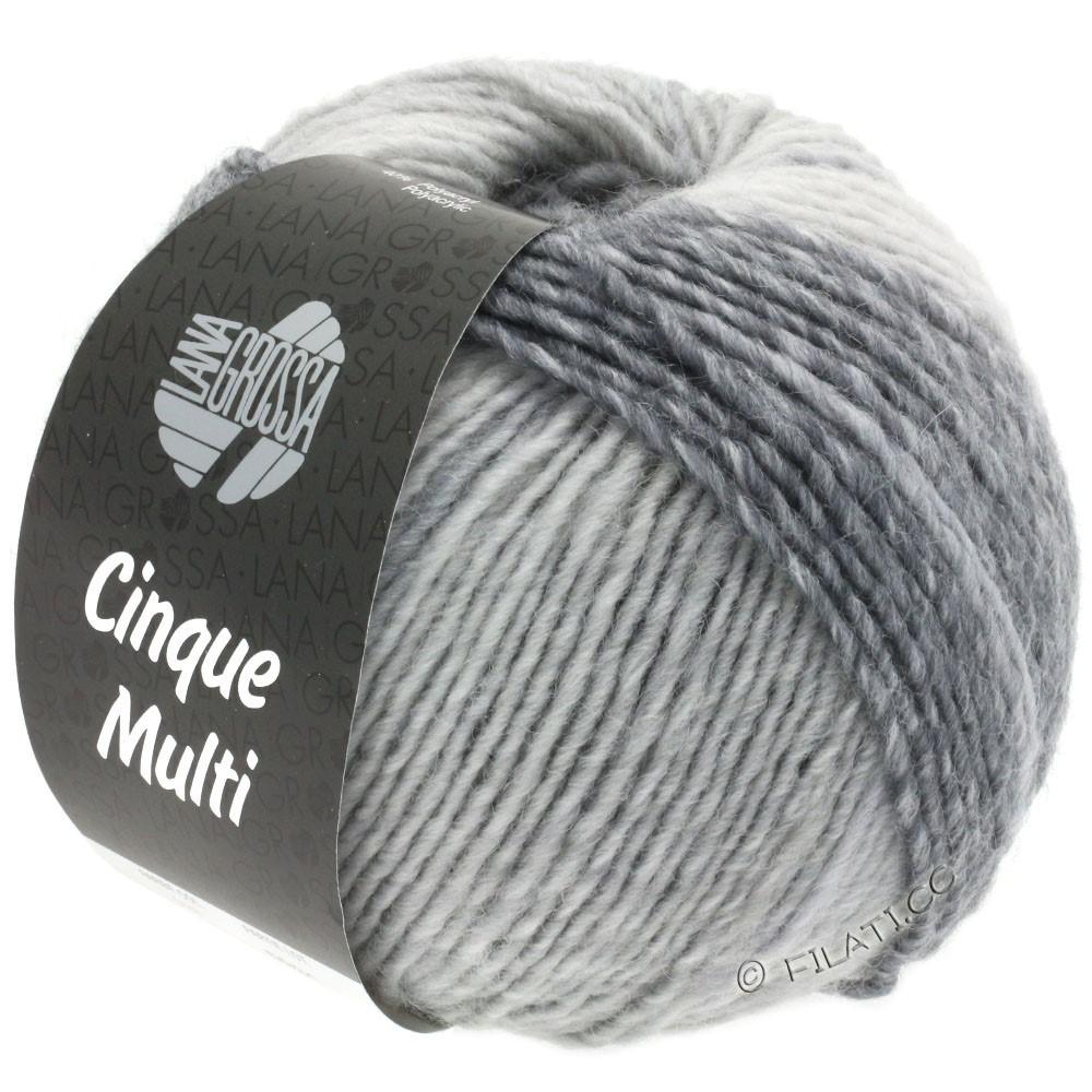 Lana Grossa CINQUE MULTI | 28-белый/светло-серый/средне-серый/тёмно-серый/антрацитовый смешанный