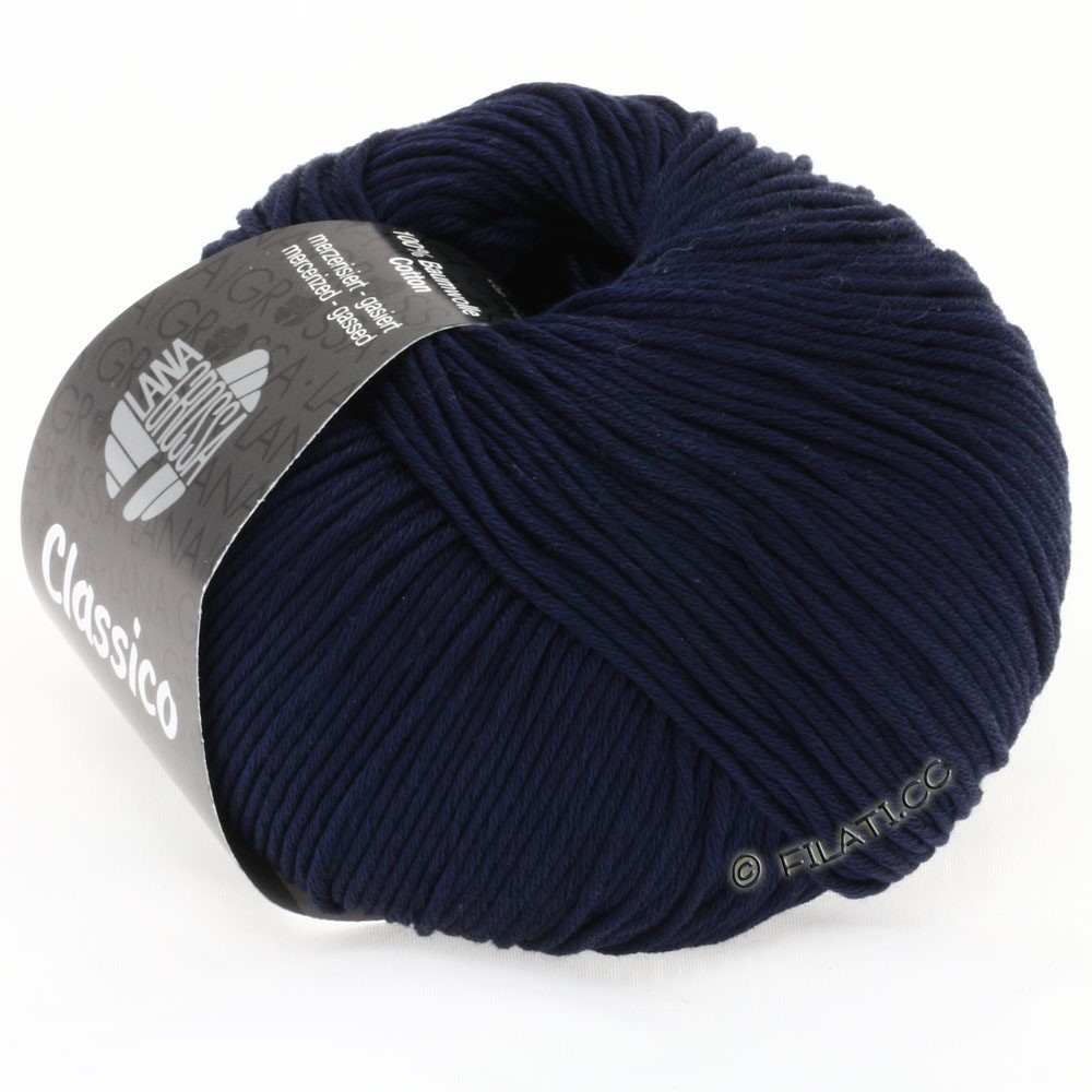 Lana Grossa CLASSICO Uni уни | 16-тёмно-синий