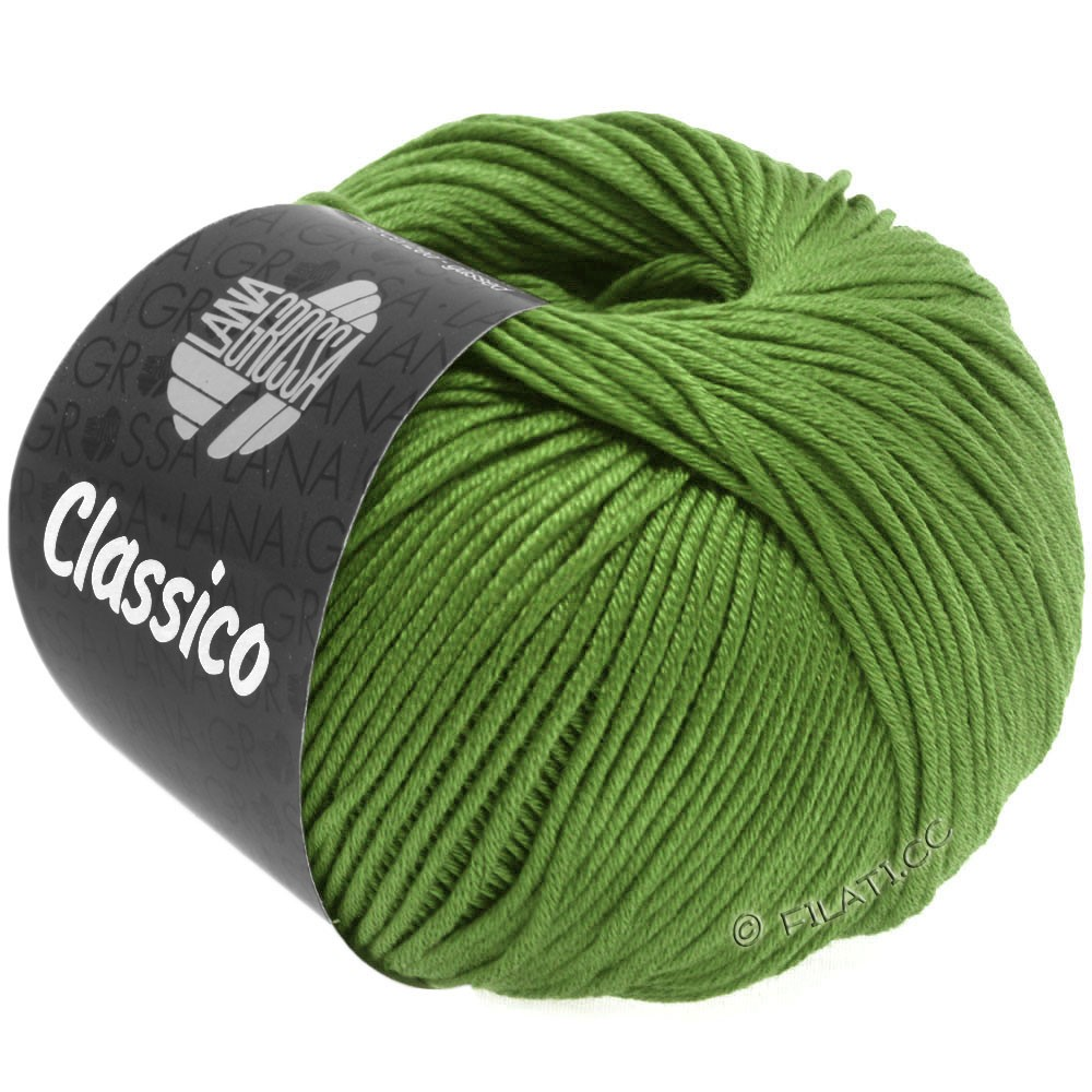 Lana Grossa CLASSICO Uni уни | 48-светло-зелёный