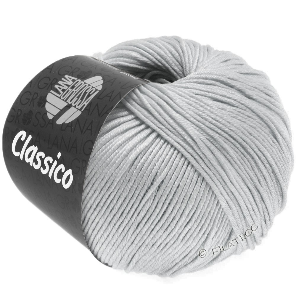 Lana Grossa CLASSICO Uni уни | 57-серебристо-серый