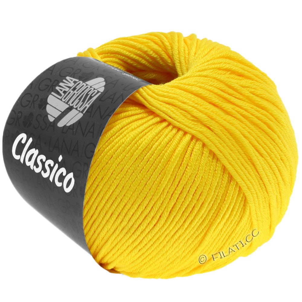 Lana Grossa CLASSICO Uni уни   58-жёлтый