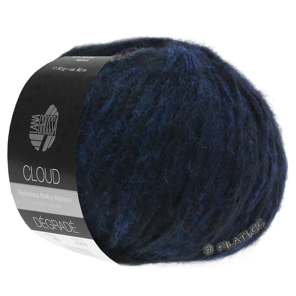 Lana Grossa CLOUD Dégradé | 107-тёмно-синий /чёрный