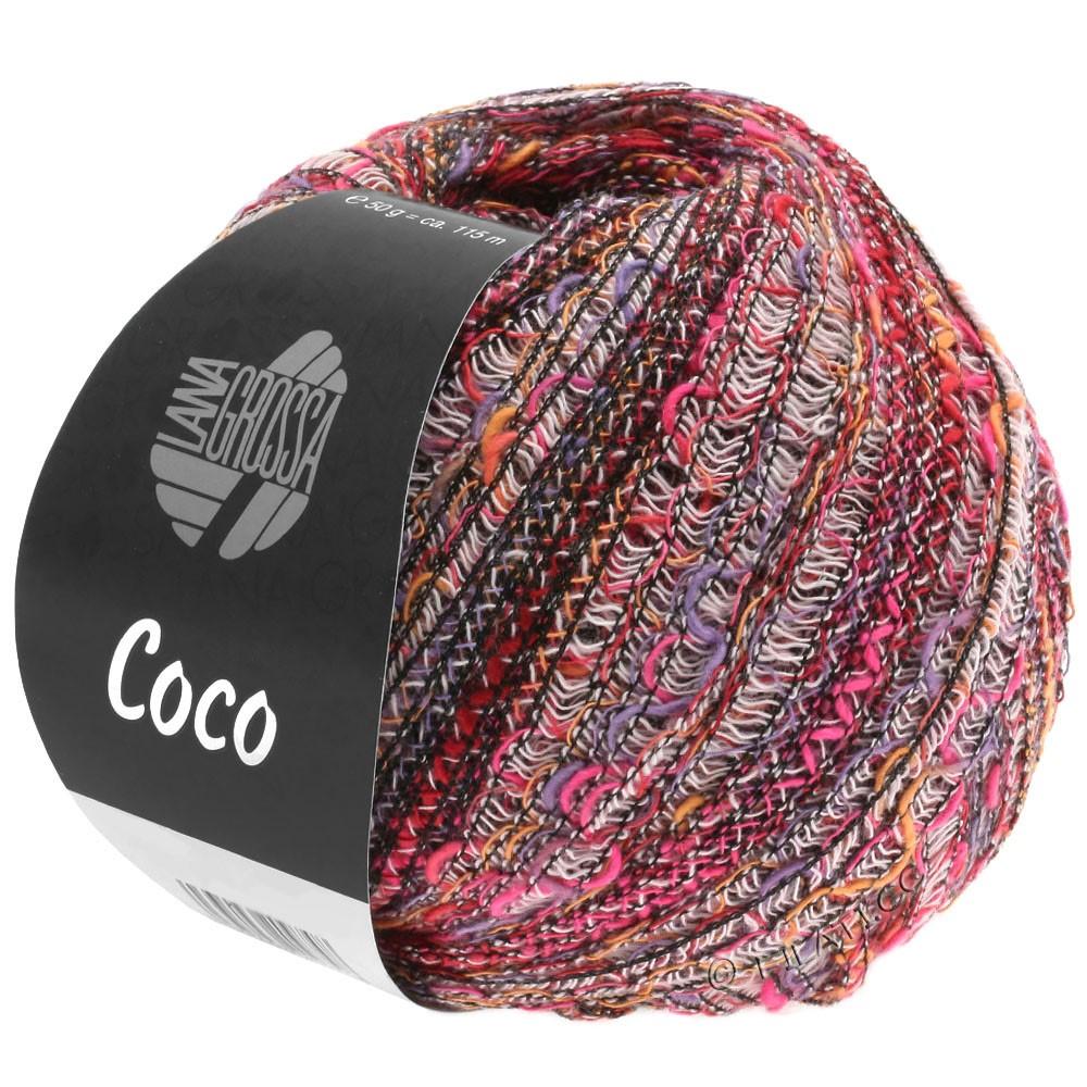 Lana Grossa COCO | 01-пинк/пурпурный/розовый/оранжевый