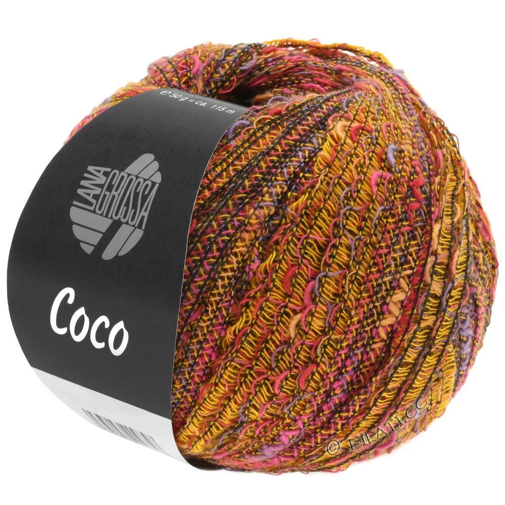 Lana Grossa COCO | 03-жёлтый/пинк/пурпурный