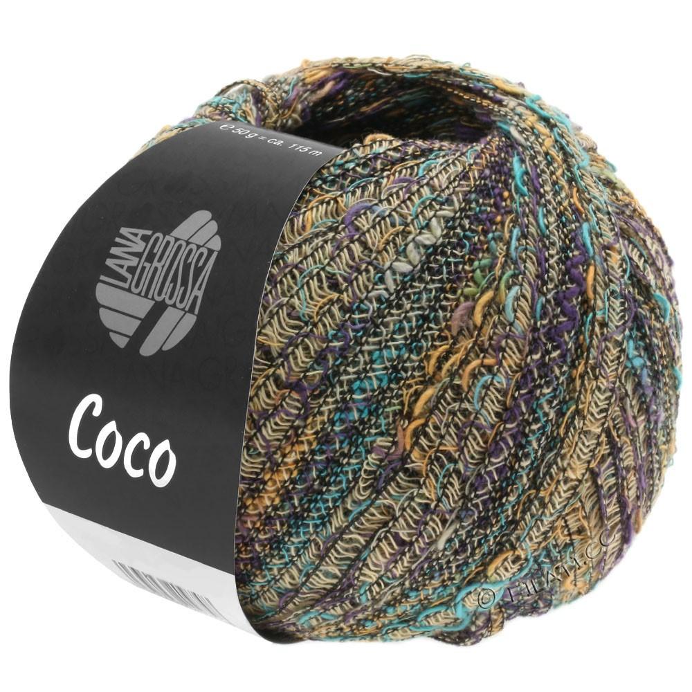 Lana Grossa COCO | 05-бежевый/легко коричневый/бирюзовый/фиолетовый