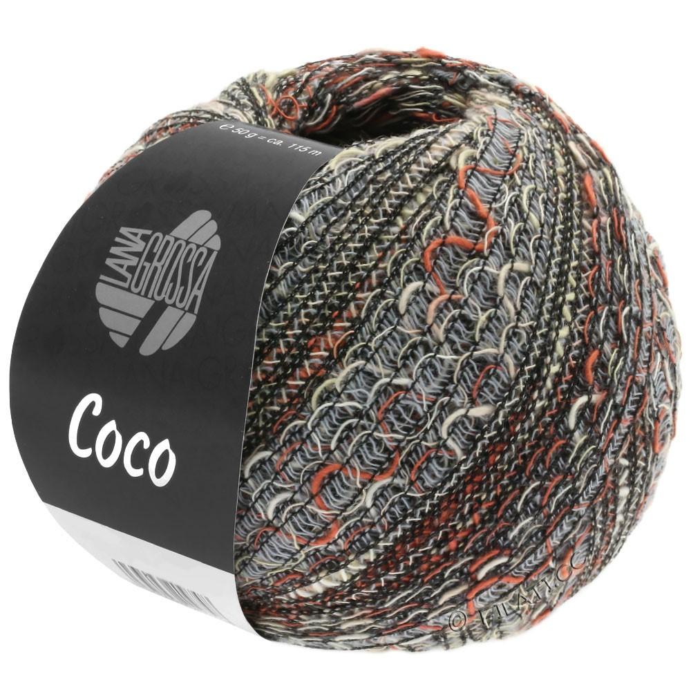 Lana Grossa COCO | 06-светло-серый/натуральный/терракотовый