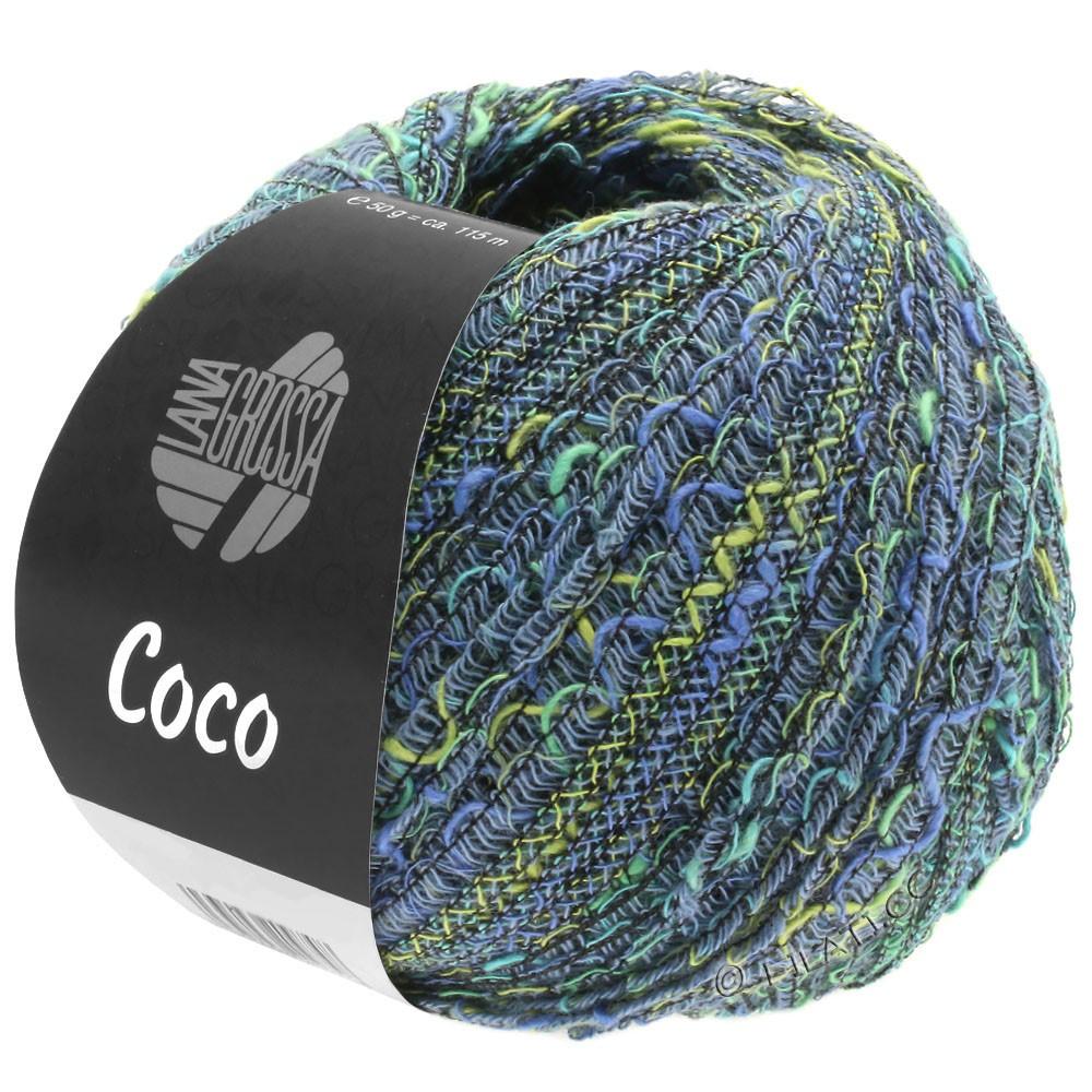 Lana Grossa COCO | 08-джинс/фисташковый/бирюзовый/синий