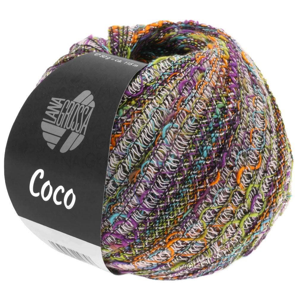 Lana Grossa COCO | 10-розовый/фиолетовый/фисташковый/оранжевый/бирюзовый