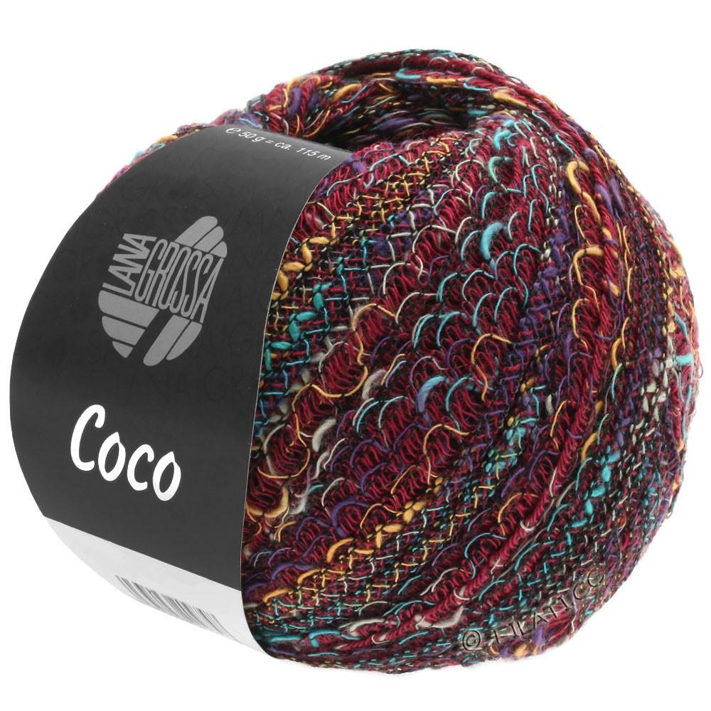 Lana Grossa COCO | 12-бордо/бирюзовый/легко коричневый/фиолетовый