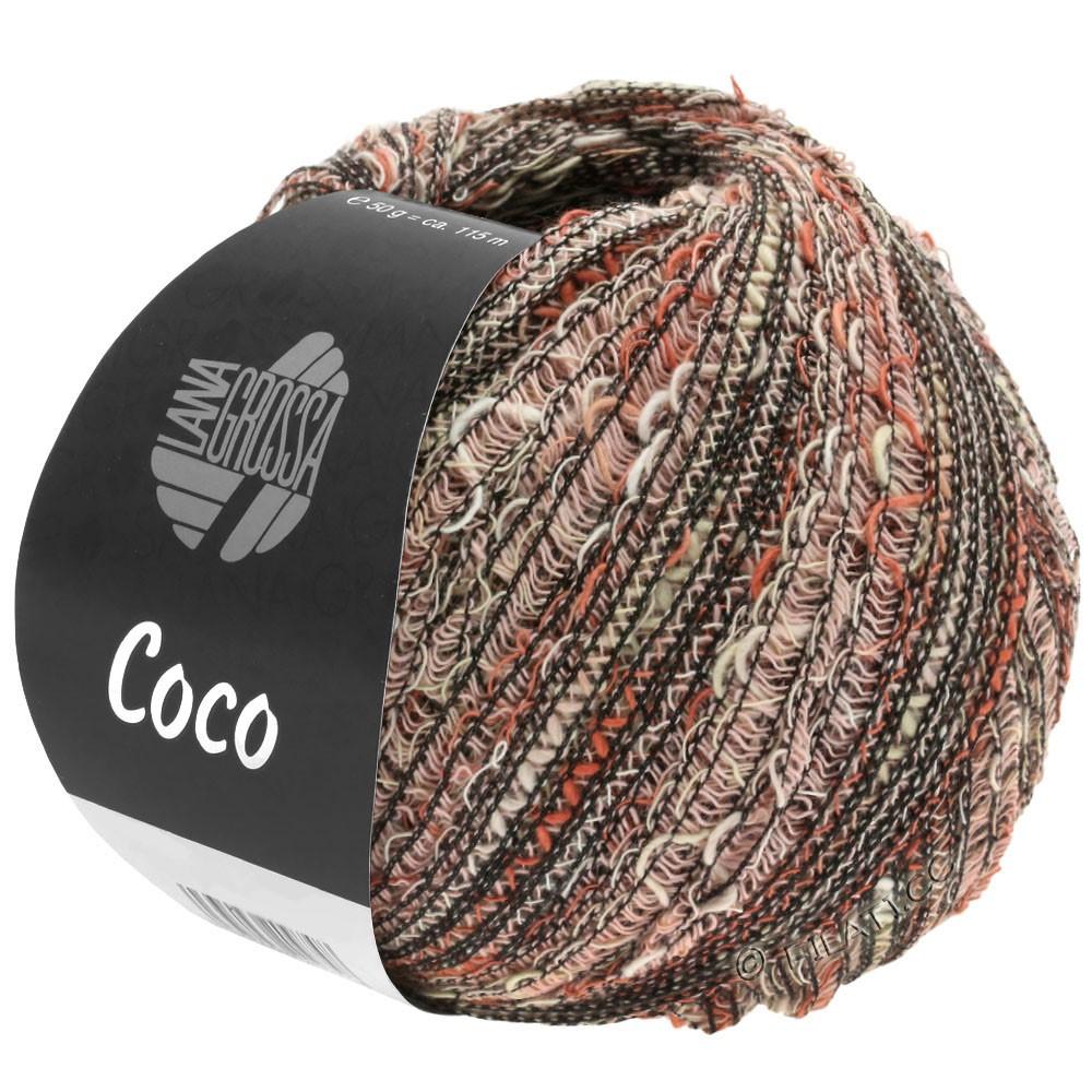 Lana Grossa COCO | 13-натуральный/терракотовый/розовый