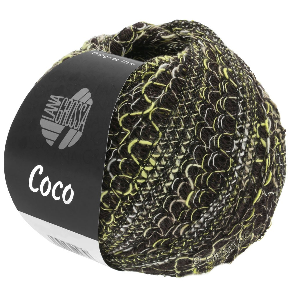 Lana Grossa COCO | 14-ванильный/натуральный/чёрный