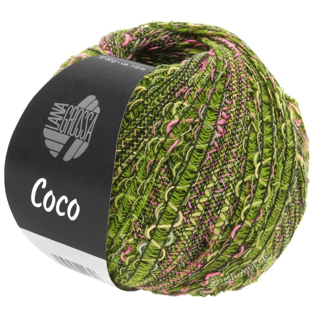 Lana Grossa COCO | 16-оливковый/пинк/тёмно-зелёный
