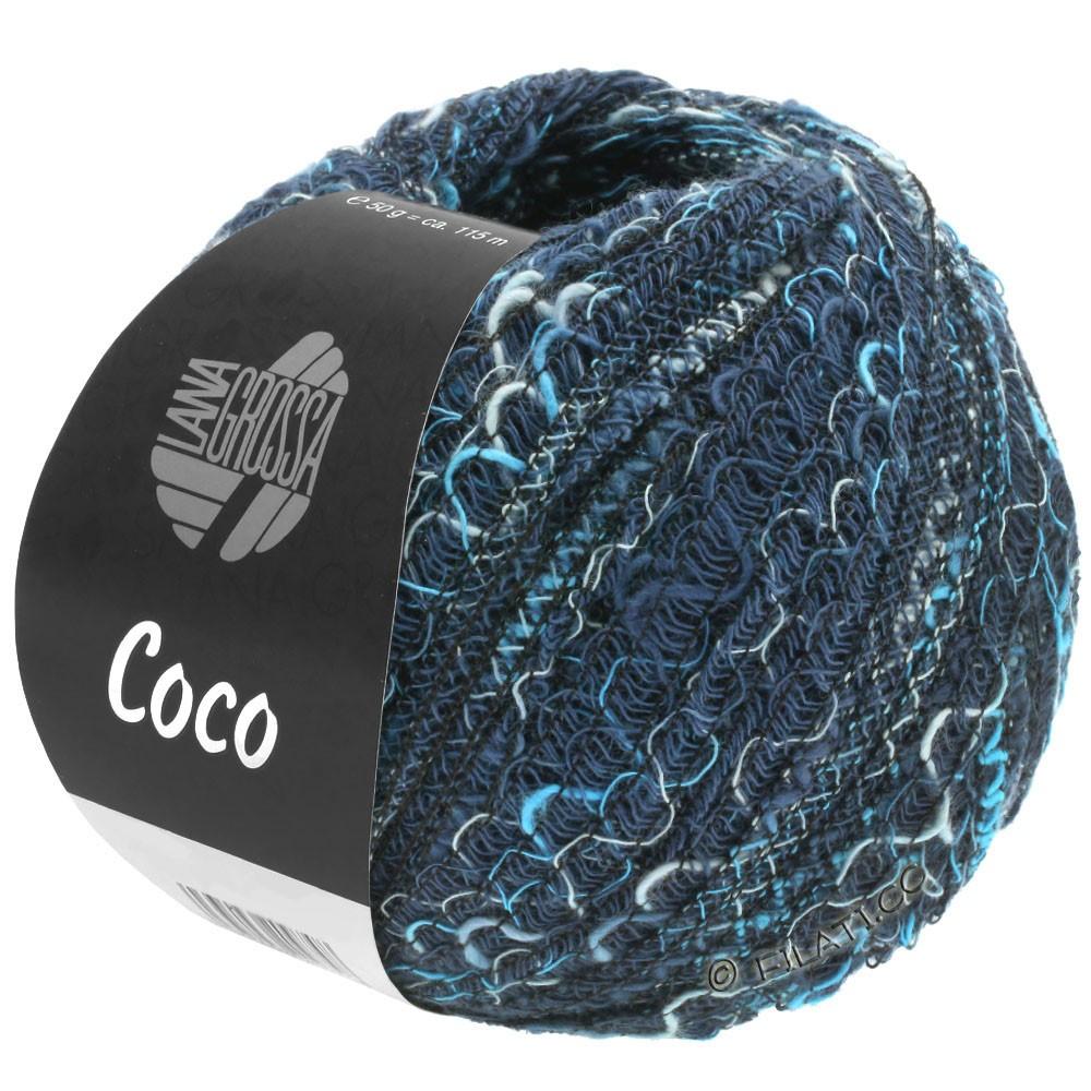 Lana Grossa COCO | 17-синий/светло-голубой/сине-бирюзовый